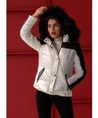 The Fashion Project Καπιτονέ μπουφάν με κουκούλα - Λευκό Μαύρο - 06298058004 323e151280f