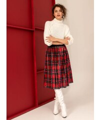 The Fashion Project Πλισέ βελουτέ φούστα με σχέδιο καρώ - Multi - 001 00ebb6373fc