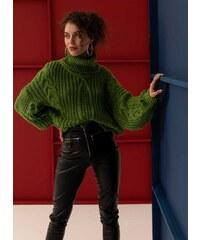 The Fashion Project Πουλόβερ με σχέδιο κοτσίδες στην πλέξη - Πράσινο - 001 5e7be90e63a