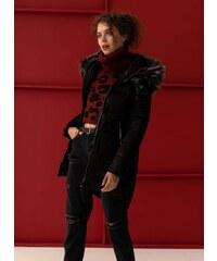 The Fashion Project Γυαλιστερό καπιτονέ μπουφάν - Μαύρο - 06325002005 2dda51c8811