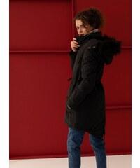 The Fashion Project Μπουφάν παρκά με αποσπώμενη κουκούλα - Μαύρο -  06323002006 94eb0fd7853
