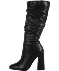 ABELINA Μαύρα Γυναικείες μπότες και μποτάκια αστραγάλου με δωρεάν ... e8da4b634ec