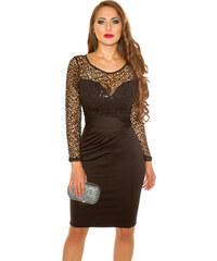 Style-Fashion 231Ν-1 Μίντι Φόρεμα με παγιέτες Μαύρο efc8296c567
