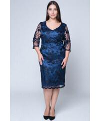 ad17b9e2612c Happysizes Midi φόρεμα με κέντημα και παγιέτες σε μπλε χρώμα