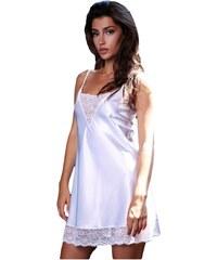 Milena Γυναικείο Νυχτικό   String Σατέν Δαντέλα Λευκό f0358bfe971