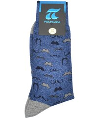 ΠΟΥΡΝΑΡΑ Πουρνάρα Ανδρικές Κάλτσες Βαμβακερές Αντιιδρωτικές Μπλε ... a265cd9dc42