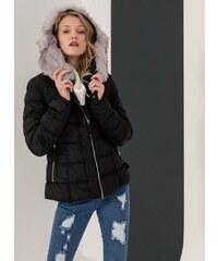 The Fashion Project Μεσάτο καπιτονέ μπουφάν με κουκούλα - Μαύρο -  06425002004 3aba1efe336