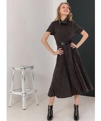 The Fashion Project Λεπτό μάλλινο πλισέ φόρεμα - Ανθρακί - 001 ffdc2f98ba4