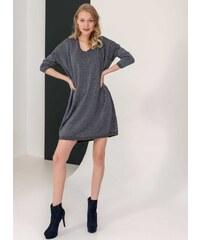 The Fashion Project Oversize φόρεμα από μεταλλόνημα - Ανθρακί - 001 7494fb2079d