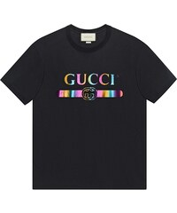 f5d3ded847 Gucci Oversize t-shirt with Gucci logo - Black