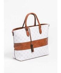 The Fashion Project Τσάντα χειρός με pattern και φάσα δερματίνη - Λευκό -  06390001001 6c23ae817d2