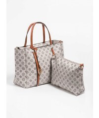 The Fashion Project Τσάντα χειρός με pattern - Πούρο - 06388006006 4608f7b311d