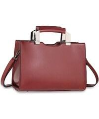 8dffb1203b Anna Grace 1522 AG Tote γυναικεία τσάντα με μεταλλικές λεπτομέρειες -  Μπορντώ