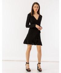 b8b1e205da08 Issue Fashion Mini μεταλλιζέ κρουαζέ φόρεμα με βολάν