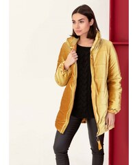 The Fashion Project Βελουτέ καπιτονέ μπουφάν με ψηλό γιακά - Κίτρινο -  06427015004 e3e74981b11