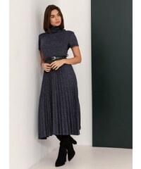 The Fashion Project Λεπτό μάλλινο πλισέ φόρεμα - Μπλε - 06413037001 3d691c872d0