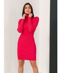 The Fashion Project Ριπ εφαρμοστό φόρεμα με ζιβάγκο - Φούξια - 06085020009 0d057cf5fc9
