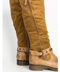 5a95fe839c7 Huxley & Grace Γυναικείες κάμελ καστόρινες μπότες ιππασίας φερμουάρ A53G