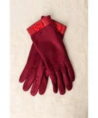 Potre Γυναικεία βελούδινα γάντια με φιογκάκι c09e151fd77