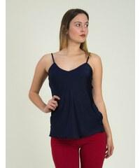 f2672a8ce3fd Huxley   Grace Γυναικεία κόκκινη αμάνικη μπλούζα Lurex πλισε 80269L ...