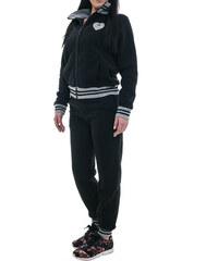 01dd5cdba9b9 Σετ φόρμας γυναικείο ζεστό σε μαύρο χρώμα Polo Club