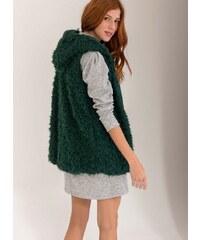 The Fashion Project Γούνινο γιλέκο με fleece επένδυση - Κυπαρισσί -  05738071001 ee0c905559c