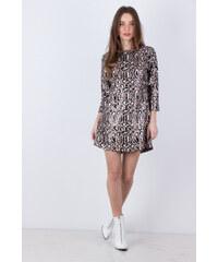 NUNU Γυναικείο φόρεμα με animal παγιέτα ΚΑΦΕ 7bd153a8f32