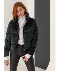 The Fashion Project Βελουτέ καπιτονέ μπουφάν με εξωτερικές τσέπες -  Κυπαρισσί - 06476071004 e4ec1270d79