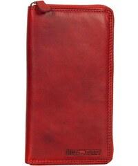 1cb60739b2 Hill Burry γυναικείο δερμάτινο πορτοφόλι κόκκινο με φερμουάρ