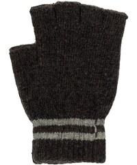 PGaccessories Πλεκτά γάντια με κομμένα δάχτυλα ανθρακί μελανζέ 6e23099bc5a
