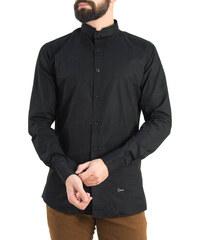 03c46c4db538 Ανδρικό μαύρο πουκάμισο Ben Tailor Mao γιακάς 373320W