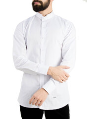 96cfd751d078 Ανδρικό λευκό πουκάμισο Ben Tailor Mao γιακάς 373320