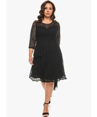 Δαντελένιο Μαύρο Φόρεμα σε  Α  Γραμμή fe5784aa9aa