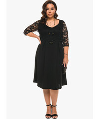 Φόρεμα Μαύρο Μίντι με Μαύρη Δαντέλα 4e22d706e8d
