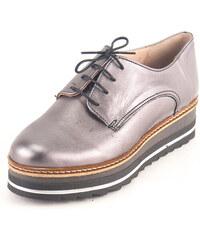 Kouros Γυναικεία Δερμάτινα Παπούτσια τύπου Oxford. Σχέδιο K200 Μαύρο ... 33637ffd194