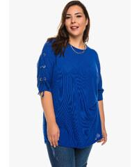 Μπλούζα Μπλε με Κορδόνι στο Μανίκι 17340f96232