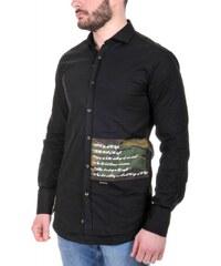 STEFAN Ανδρικό Italian μακρυμάνικο slim fit πουκάμισο 0344de9be30