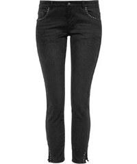 1ae3e3be2422 S.OLIVER Ελαστικό super skinny μαύρο παντελόνι 7 8 με τρούκ