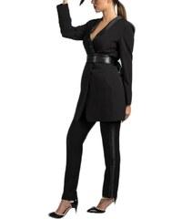 BRAVO ZINO JORDAN Γυναικείο ελαστικό ψηλόμεσο μαύρο τσίνος παντελόνι 758ca3966e8