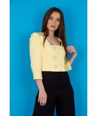 The Fashion Project Overall σακάκι-σορτς με χρυσό κουμπί - Κίτρινο ... 30fe9cb903f