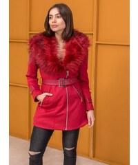 The Fashion Project Ημίπαλτο με δερματίνη στους ώμους - Κόκκινο -  06505014004 2e22096e483
