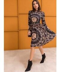 fc6ec65a3e87 The Fashion Project Φόρεμα με μπαρόκ σχέδιο - Μαύρο Μπεζ - 001