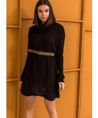 The Fashion Project Πλεκτό φόρεμα με μεγάλο ζιβάγκο - Μαύρο - 06500002001 209e1540e2a