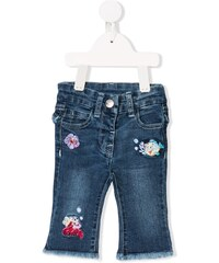 Monnalisa Little Mermaid embroidered jeans - Blue e112db7f3e7