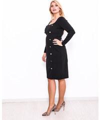 exclusive Εφαρμοστό φόρεμα με χρυσά κουμπιά 4a5d62f90fd