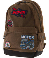 98b8a758b44 SUPERDRY M FLASH D4 MOTO MONTANA BACKPACK - M91011NQ-18E BROWN