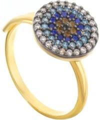 Paraxenies Δαχτυλίδι μάτι από επιχρυσωμένο ασήμι με πέτρες ζιργκόν 885577449b0