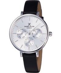 Ρολόι Daniel Klein Exclusive πολλαπλών ενδείξεων με μαύρο λουράκι DK11896-1 f8d94314032