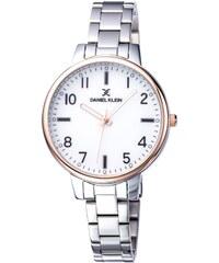 Ρολόι Daniel Klein με ασημί μπρασελέ και λευκό καντράν DK11912-3 5a4ba52df39