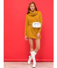 fd4cf4c52d0c The Fashion Project Μακρύ πλεκτό με ζιβάγκο - Μουσταρδί - 06522056001